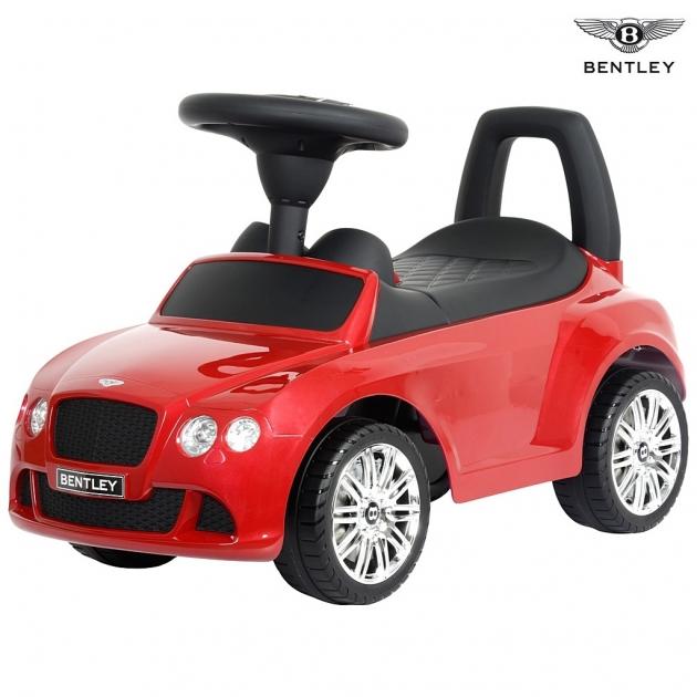 Каталка автомобиль RT bentley с музыкой красный 5695