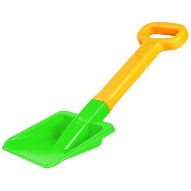 Лопата большая RT orion пластик с ручкой оранжевый зеленый 6271