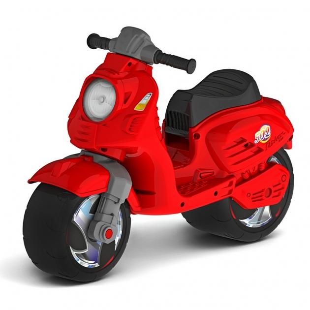 Каталка мотоцикл беговел скутер RT цвет красный 6415