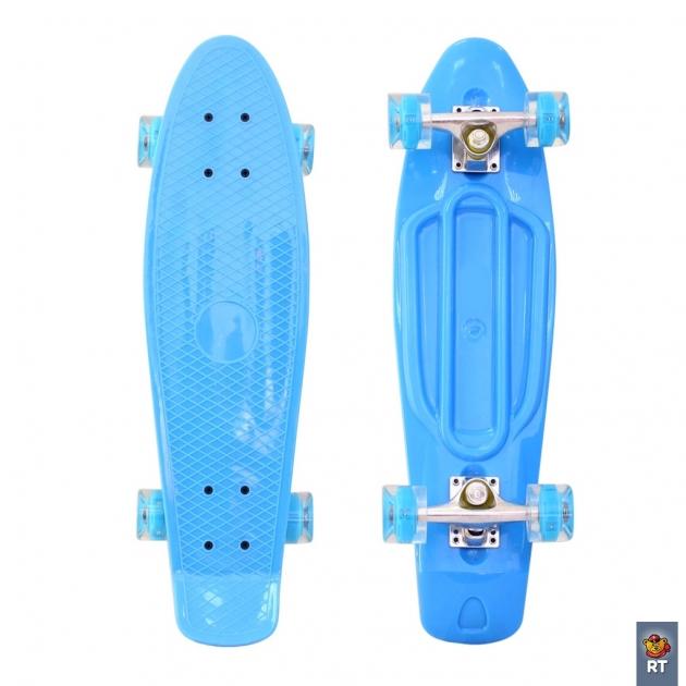 Скейтборд classic RT 26 68х19 ywhj 28 пластик голубой 171205 6437