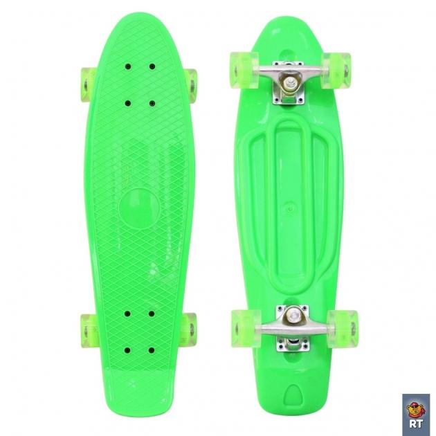 Скейтборд classic RT 26 68х19 ywhj 28 пластик зеленый 171206 6439