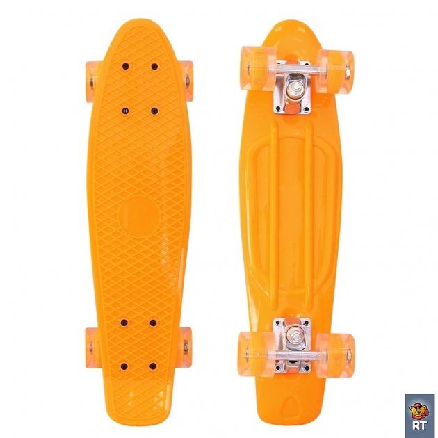 Скейтборд classic RT 22 56x15 yqhj 11 пластик оранжевый 171203 6440