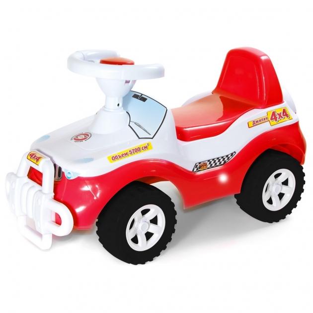 Каталка RT машинка джипик с клаксоном красная 6525