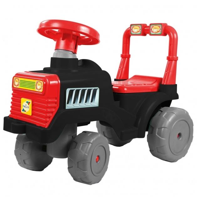 Каталка RT трактор в черно красный 6528