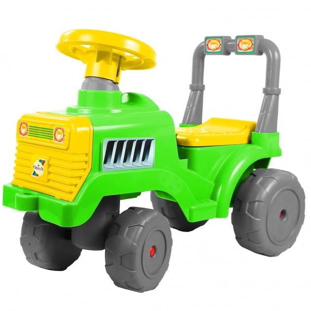 Каталка RT трактор в зелено желтый 6529