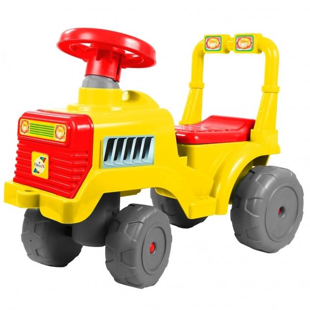 Каталка RT трактор в желто красный 6530