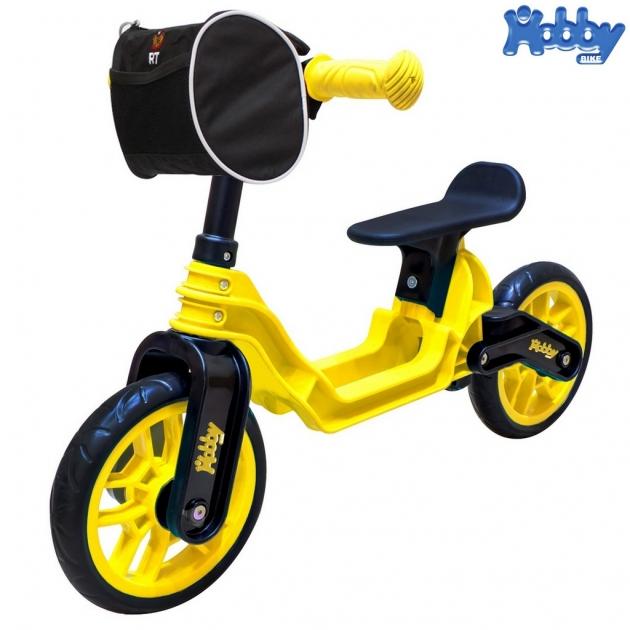 Беговел RT Hobby bike magestic yellow black 6636