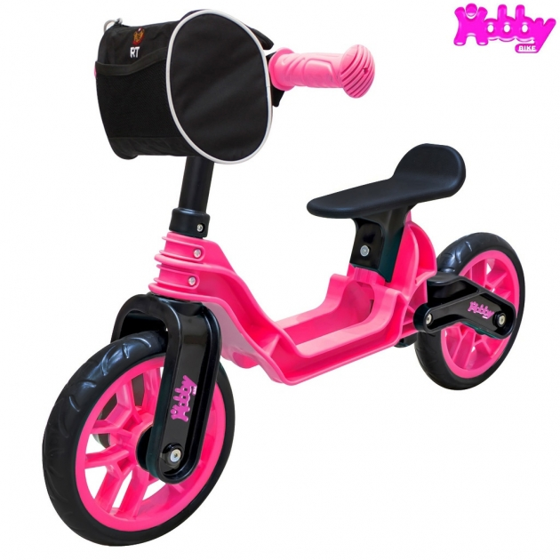 Беговел RT Hobby bike magestic pink black 6638