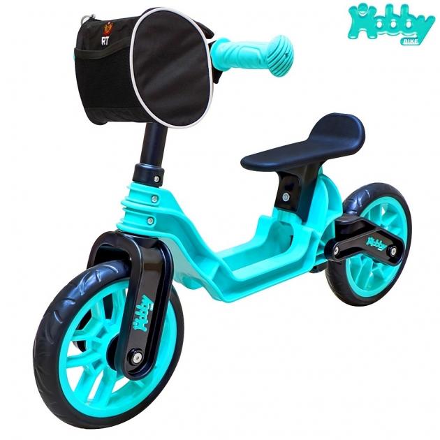Беговел RT Hobby bike magestic aqua black 6639