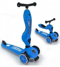 Трехколесный самокат с сиденьем Scoot and ride highwaykick синий