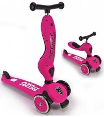 Трехколесный самокат с сиденьем Scoot and ride highwaykick розовый