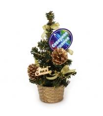 Декоративная елочка в горшочке merry cristmase 20 см Северное сияние IT100269