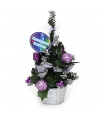 Декоративная новогодняя елка в горшочке 20 см Северное сияние IT100271