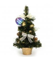 Декоративная новогодняя елка в горшочке 30 см Северное сияние IT100277