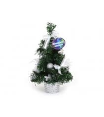 Декоративная елка в горшочке с аксессуарами 30 см Северное сияние IT100279