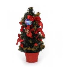 Декоративная елка с аксессуарами в горшочке 50 см Северное сияние IT100286