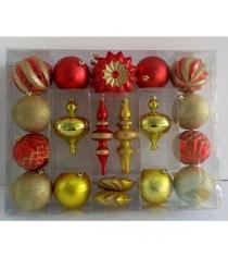 Новогодний набор елочных игрушек 22 шт Shantou Gepai Е96164