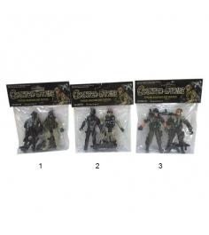 Набор из 2 фигурок counter strike солдаты с оружием Shantou Gepai 5898-A30...