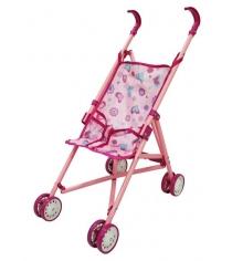 Прогулочная коляска трость для кукол розовая Shantou Gepai PH910