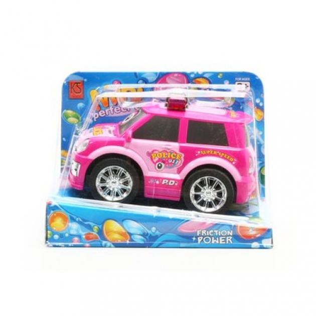 Фрикционная машина police 911 розовая