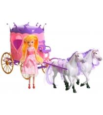 Набор princess and carriage карета с куклой