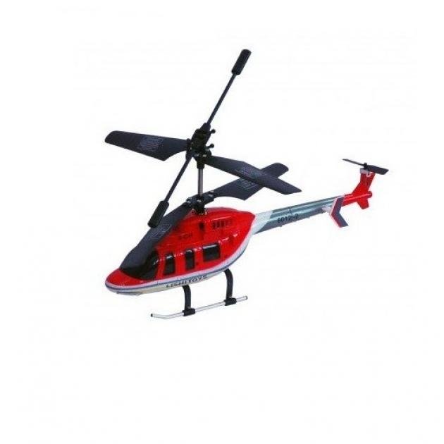 Трехканальный вертолет на радиоуправлении с гироскопом красный