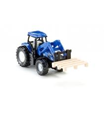 Металлическая модель Siku New Holland Трактор с вилами для поддонов 1:87 1487