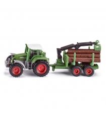 Игрушечный трактор Siku Fendt с прицепом для бревен 1:50 1645