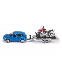 Масштабный автомобиль Siku с прицепом и мотоциклом 1:55 2547