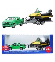 Игровой набор Siku Автомобиль с прицепом и снегоходом 1:55 2548