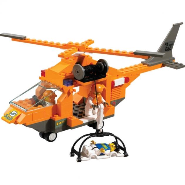 Конструктор служба спасения вертолет 160 деталей Sluban M38-B0102