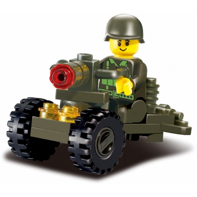 Конструктор сухопутные войска пулемет 24 детали Sluban M38-B0118