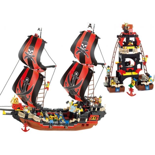 Конструктор пиратская серия корабль 632 детали Sluban Г17753