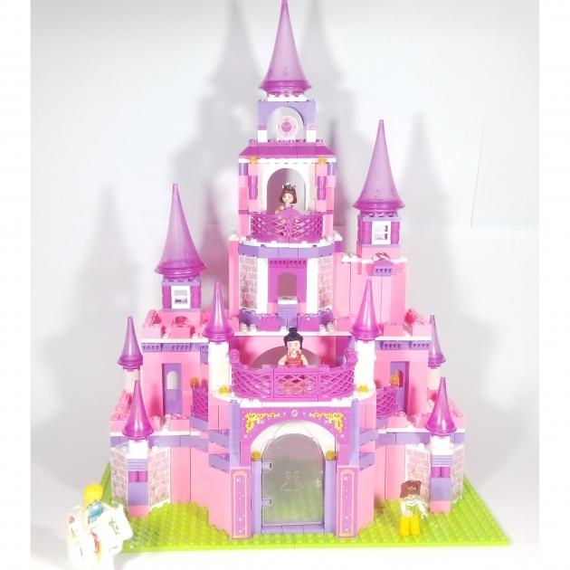 Конструктор розовая мечта замок принцессы Sluban Г44953