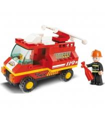 Конструктор город пожарная машина 74 детали Sluban Г35985...