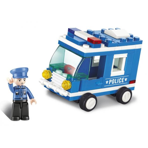 Конструктор город полицейская машина 64 детали Sluban M38-B0177