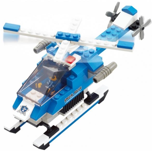 Конструктор полицейский спецназ вертолет 133 детали Sluban M38-B0185