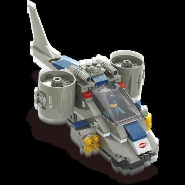Конструктор военный спецназ штурмовой самолет 155 деталей Sluban Г28690