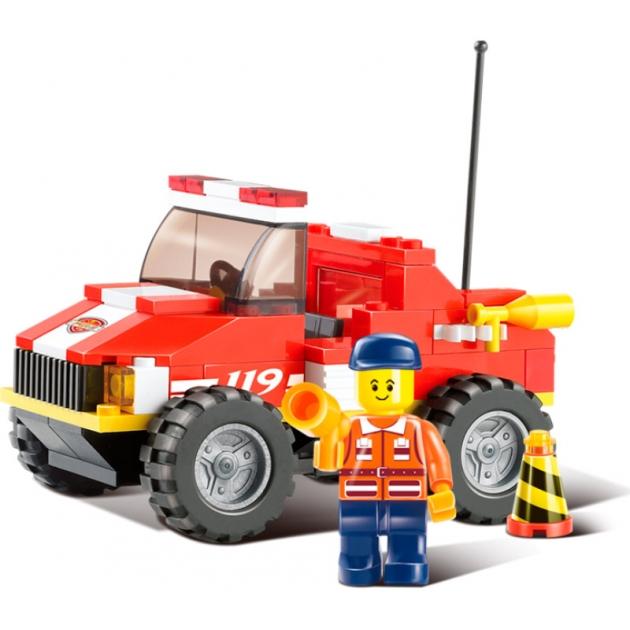 Конструктор пожарные спасатели машина 118 деталей Sluban M38-B0217