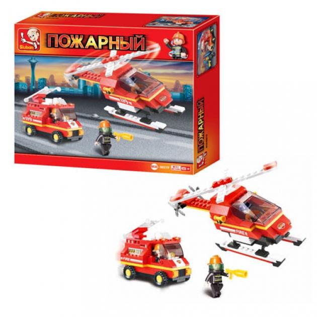 Конструктор пожарные спасатели техника 211 деталей Sluban M38-B0219