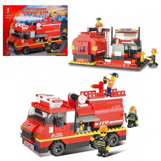 Конструктор пожарные спасатели машина 281 деталь Sluban Г28698