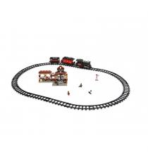 Конструктор железнодорожный вокзал свет звук 526 деталей Sluban Г28703...