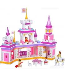 Конструктор розовая мечта сказочный замок принцессы 385 деталей Sluban Г35981...