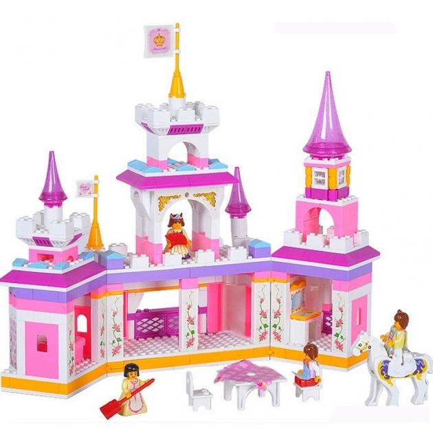 Конструктор розовая мечта сказочный замок принцессы 385 деталей Sluban Г35981