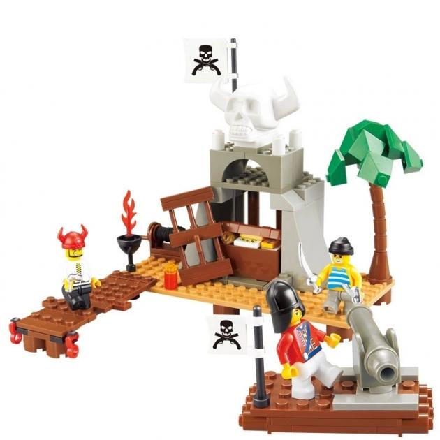 Конструктор пират охрана пиратских сокровищ 142 детали Sluban Г71980