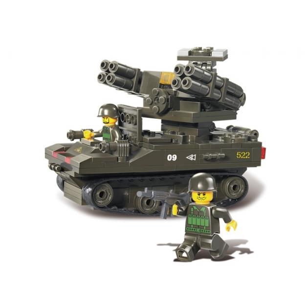Конструктор вооруженные силы танк с 2 пушками 212 деталей Sluban Г35966