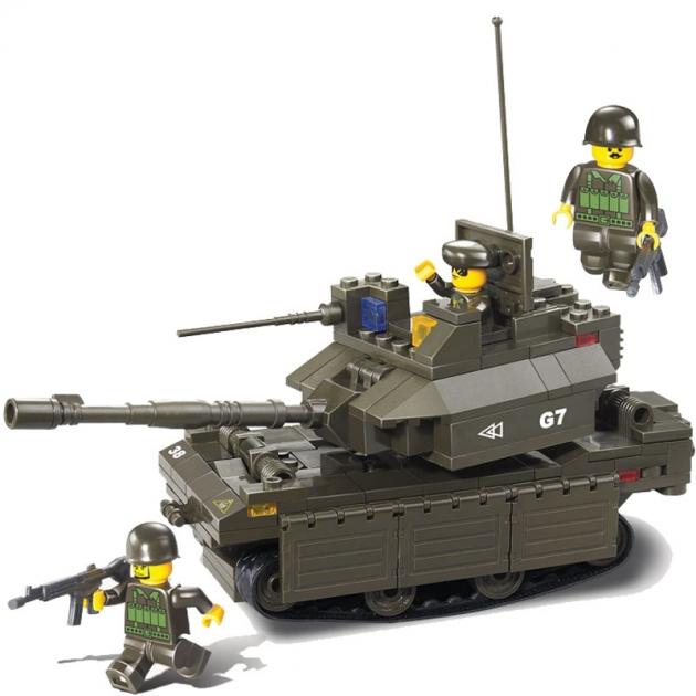 Конструктор вооруженные силы танк 219 деталей Sluban Г37166
