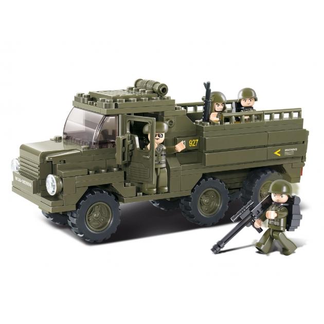 Конструктор армия военный грузовик 230 деталей Sluban Г35969