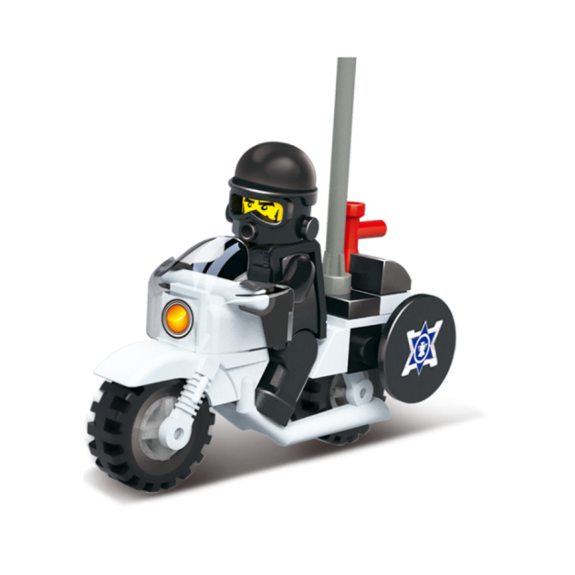 Конструктор военная полиция мотоцикл с фигуркой 24 Sluban M38-B0325