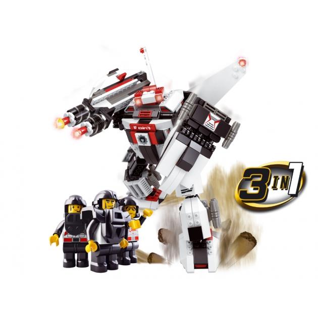 Конструктор космический десант робот трансформер 313 деталей Sluban Г43389
